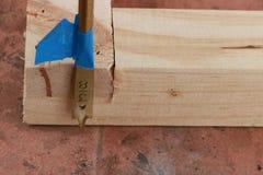Взгляд конца-вверх бурового наконечника лопаты стоковая фотография rf