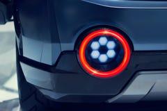 Взгляд конца-вверх света автомобиля спорт современного дизайна заднего стоковые фото
