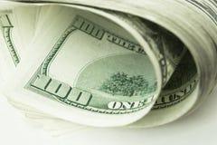 Взгляд конца-вверх стога долларов США Стоковая Фотография RF