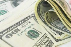 Взгляд конца-вверх стога долларов США Стоковые Фото