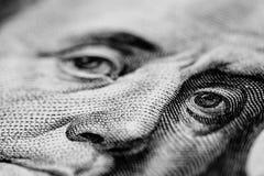 Взгляд конца-вверх стога долларов США Стоковые Изображения