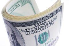 Взгляд конца-вверх стога долларов США Стоковое Фото