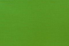 Взгляд конца-вверх ткани зеленого цвета естественной Текстура Aida для Стоковое Изображение RF