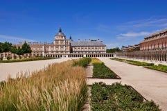 Взгляд королевского дворца в Аранхуэсе, Испании Стоковые Фото
