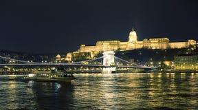 Будапешт на ноче Стоковое фото RF