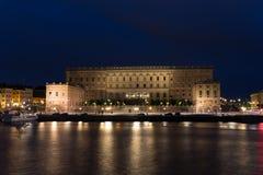 Взгляд королевского дворца Стокгольм Швеция Стоковые Изображения