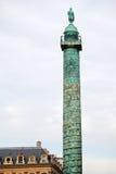 Колонка Vendome в Париже Стоковые Изображения