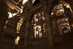 Взгляд колодца шага Adalaj Ахмадабад, Гуджарат стоковые фото