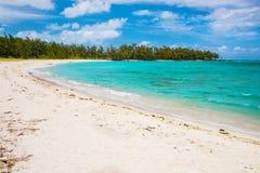 Взгляд красивого пляжа в острове Маврикия Стоковая Фотография RF