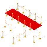Взгляд красного ковра установленный равновеликий вектор Стоковое Изображение RF