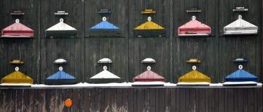 Взгляд красочного деревянного улья Стоковые Изображения RF