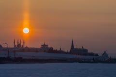 Взгляд Кремля в Казани России Стоковые Фото