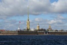 Взгляд крепости Питера и Пола Стоковые Изображения RF