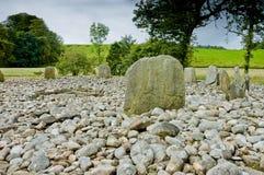 Взгляд круга камня Templewood, Kilmartin Глена, Шотландии Стоковое Изображение RF