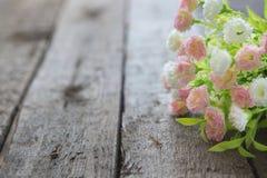 Взгляд крупного плана красивой свежей мягкой розы пинка букета Стоковые Изображения