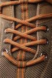Взгляд крупного плана пешего ботинка Стоковое Изображение