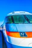 Взгляд крупного плана прифронтовой старый электрический высокоскоростной локомотив ag Стоковое Фото