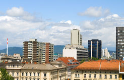 Взгляд крыши дела Lju кондо квартир офисных зданий Стоковые Изображения