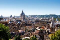 Взгляд крыши над Римом от холма Стоковое Фото