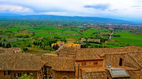 Взгляд крыши Assisi Стоковые Фото