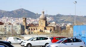 Взгляд купола и башни церков Sant Andreu del Паломара Стоковое Изображение RF