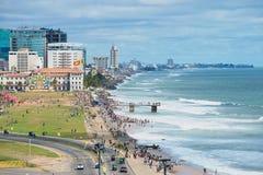 Взгляд к взморью в городском Коломбо, Шри-Ланке Стоковые Фото
