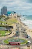 Взгляд к взморью в городском Коломбо, Шри-Ланке Стоковые Изображения RF