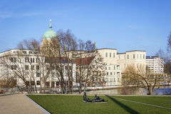 Взгляд к дворцу Barberini на месте изменяет Markt Стоковая Фотография RF