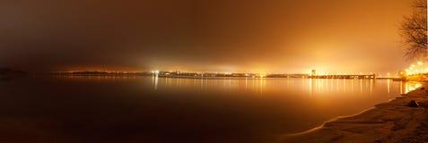 Взгляд к гидроэлектростанции Dnieper Стоковые Изображения