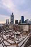 Взгляд к горизонту Франкфурта-на-Майне с Hauptwache и ухом небоскреба Стоковые Фотографии RF