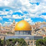 Взгляд к городу Иерусалима старому Израиль Стоковое Фото