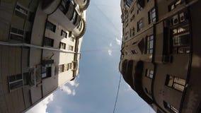 взгляд кливера движения Высоко-угла старого центра города видеоматериал