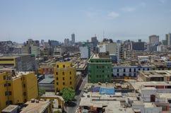 Взгляд к крышам центра города от Convento de Santo стоковое фото rf