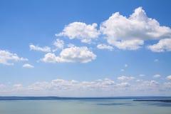 Взгляд к озеру Balaton, Венгрии Стоковое фото RF