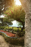Взгляд к саду на вилле в Ravello Италия стоковые изображения rf