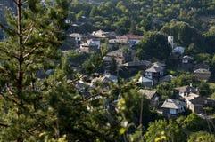 Взгляд к старой деревне Стоковая Фотография