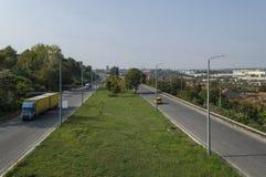 Взгляд к шоссе Уловка-Софии стоковое изображение