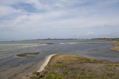 Взгляд ключа Perdido от лагуны на большом парке штата лагуны в Pensaocla, Флориде Стоковая Фотография RF