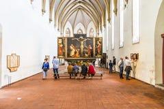 Взгляд к Altarpiece Isenheim стоковое фото rf