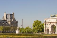 Взгляд к des Tuileries Jardin. Стоковая Фотография RF