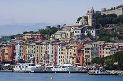 Взгляд к Portovenere, Италии Стоковая Фотография
