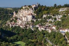 Взгляд к Rocamadour Стоковое Фото