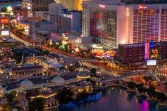 Взгляд Лас-Вегас от космополитического Стоковая Фотография RF
