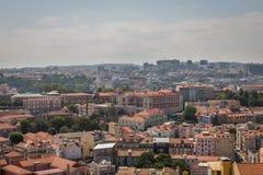 Взгляд Лиссабона панорамный стоковые фото