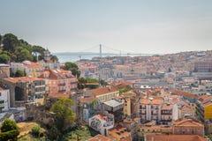 Взгляд Лиссабона панорамный стоковые изображения rf