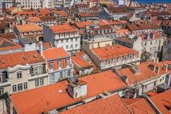 Взгляд Лиссабона панорамный стоковая фотография rf