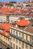 Взгляд Лиссабона панорамный стоковая фотография