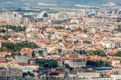 Взгляд Лиссабона панорамный стоковое изображение