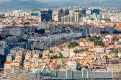 Взгляд Лиссабона панорамный стоковое фото rf