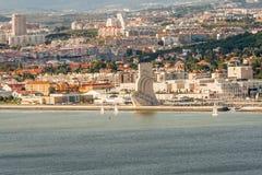 Взгляд Лиссабона панорамный Стоковое Фото